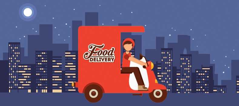 Il food delivery sperimenta la consegna notturna
